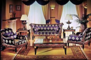 503 ROPE CARVED ARMCHAIR - 471 2 ROPE CARVED LOVE SEAT - 500 COFFEE TABLE - 501 ROPE  LAMP TABLE